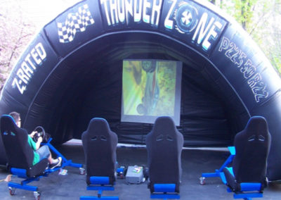 Giant Video Racing Game